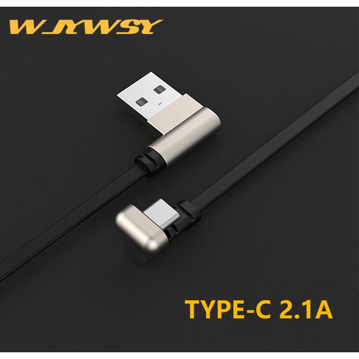 Foto Produk WJYWSY- Kable Data TYPE C U Shape 2.1A Fast Gaming Charger - TYPE C - Hitam dari tokolingli