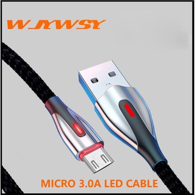 Foto Produk WJYWSY- Kable Data MICRO 3.0A Fast Charger - ANDROID - Hitam dari tokolingli