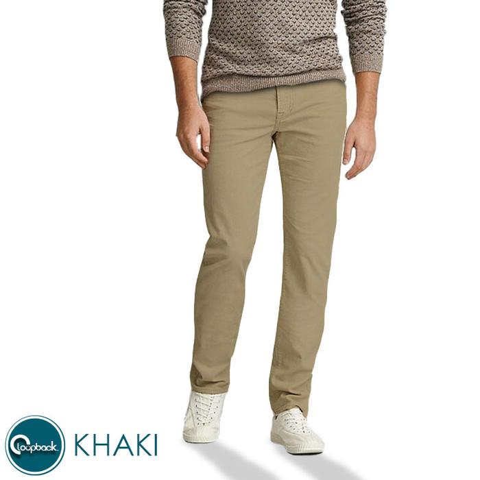 Foto Produk Celana Chino Slim Fit - Celana Panjang Pria Premium Khaki Gold Smith - Khaki, 35 dari Loopback Shop