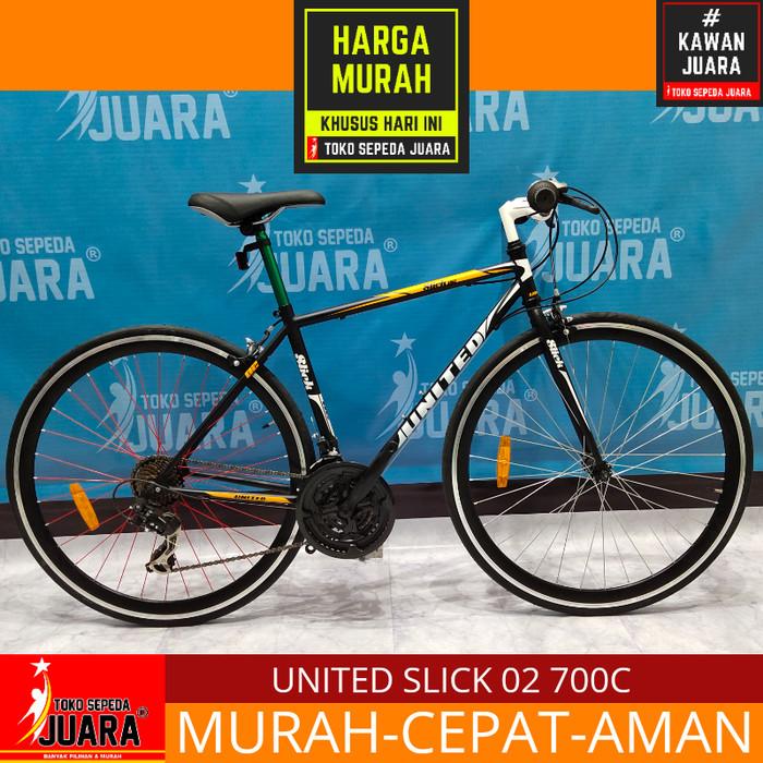 harga Sepeda united slick 02 roadbike 700c 21 speed black Tokopedia.com