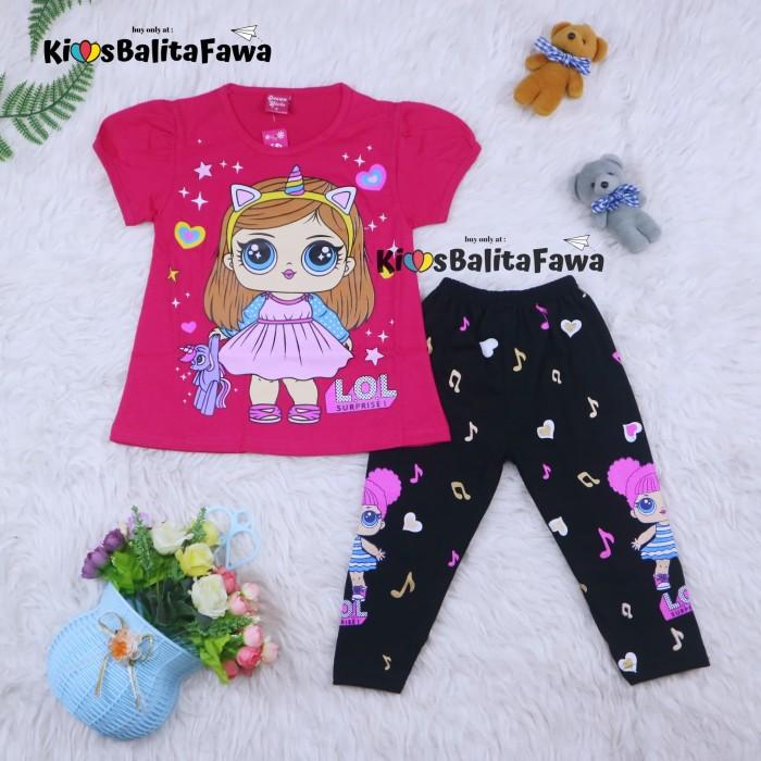 Foto Produk Setelan LOL uk 3-4 tahun / Baju Anak Karakter Perempuan Import - Motif LOL dari Kios Balita Fawa