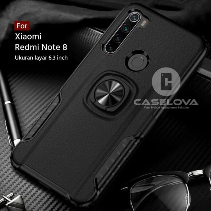 Foto Produk Case Xiaomi Redmi Note 8 Hardcase Ring Carbon Thunder - Hitam dari Caselova Store