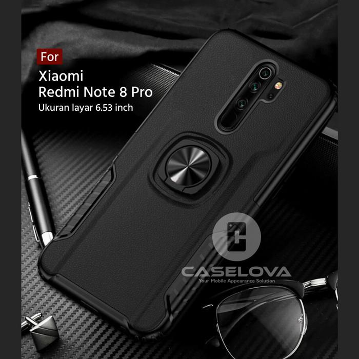 Foto Produk Case Xiaomi Redmi Note 8 Pro Hardcase Ring Carbon Thunder - Hitam dari Caselova Store