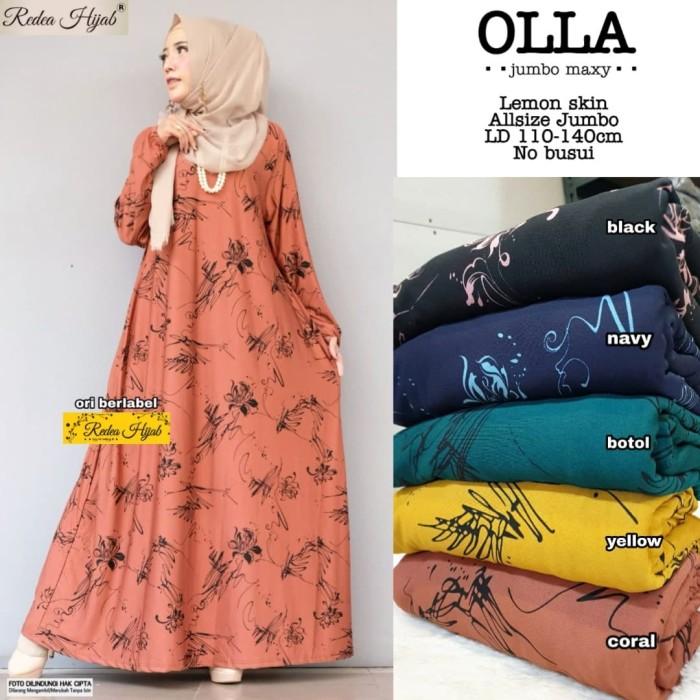 Jual Olla Jumbo Maxy Baju Gamis Wanita Muslim Gaul Masa Kini Kota Surakarta Vivien Collection Tokopedia