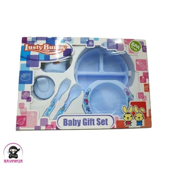Foto Produk LUSTY BUNNY Baby Feeding Gift Set Alat Makan Bayi isi 6 - LB 1850 dari BAYININJA
