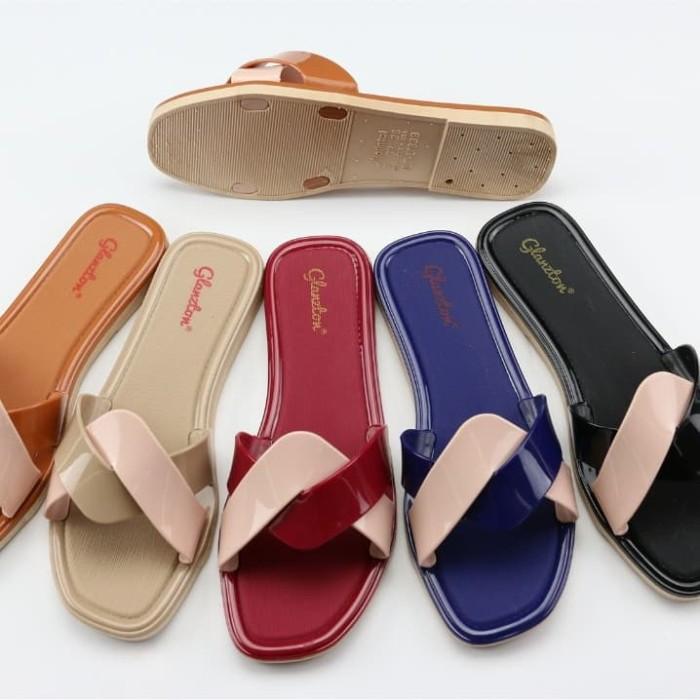 Foto Produk Sandal Wanita Jelly Sandal Whorl NEW - Sandal sendal cewek selop karet dari Gracia OS