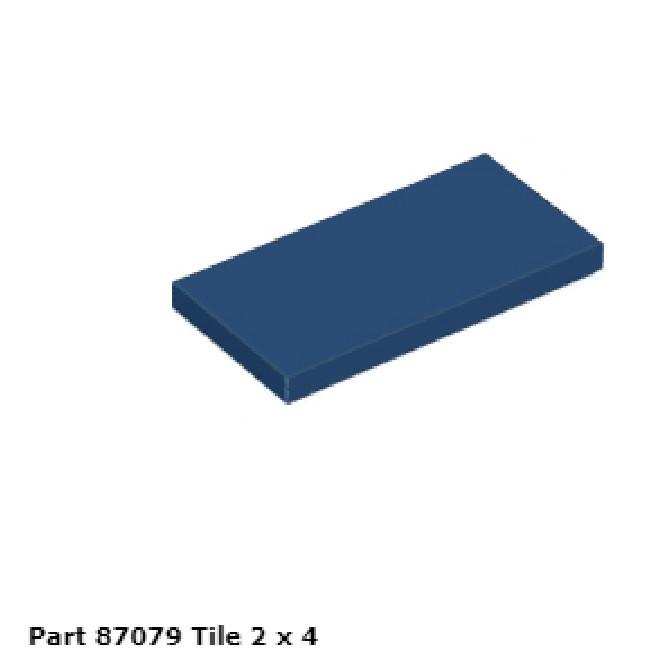 LEGO® Dark Blue Tile 1 x 4 Design ID 2431