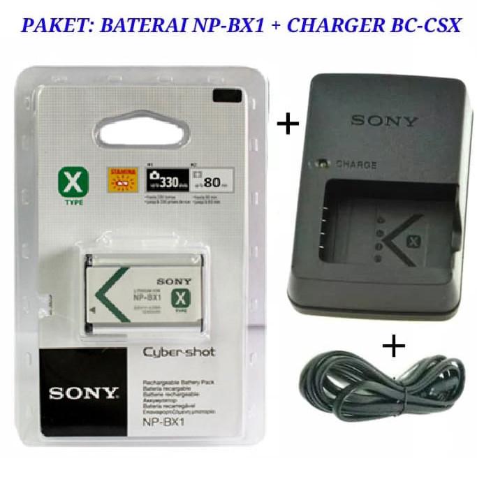 Foto Produk PAKET BATERAI SONY NP-BX1 + CHARGER BC-CSX dari Grosir Aksesoris Kamera