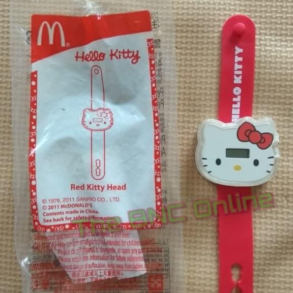 New Sanrio Hello Kitty Key Chain Red 3D Body # 6 QQ