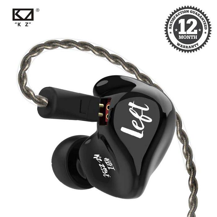 Foto Produk Knowledge Zenith ZS3e - Deep Bass Earphone Silver Cable NON MIC - Hitam dari Knowledge Zenith Store