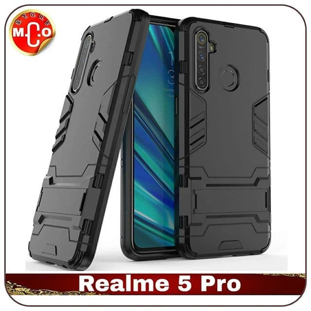 Jual Realme 5 Pro Armor Iron Stand Case Casing Sarung Cover Hp Hitam Jakarta Pusat Mco Store Tokopedia