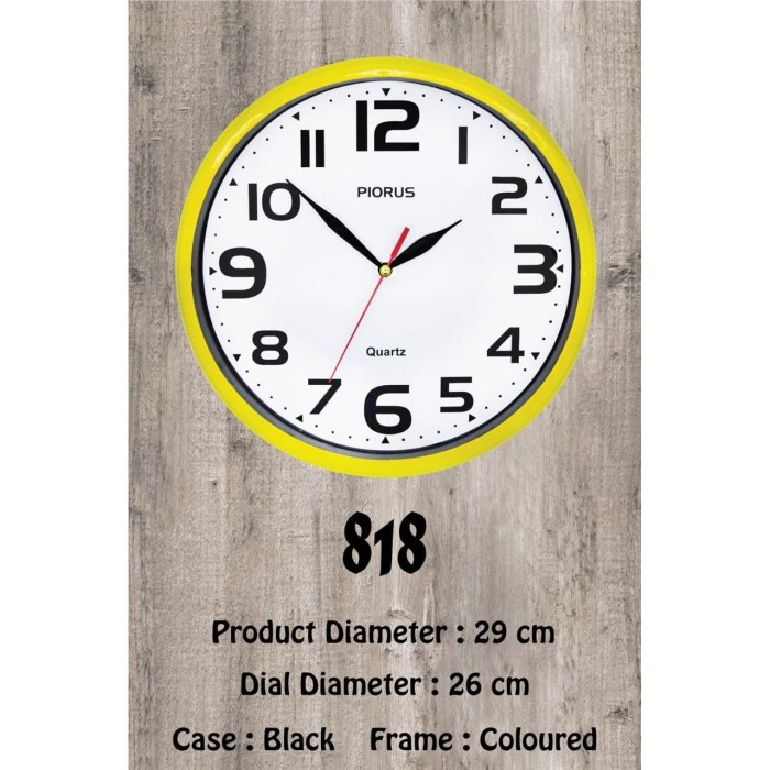Foto Produk jam dinding custom logo souvenir promosi 29 cm dari Outlet souvenir JKT