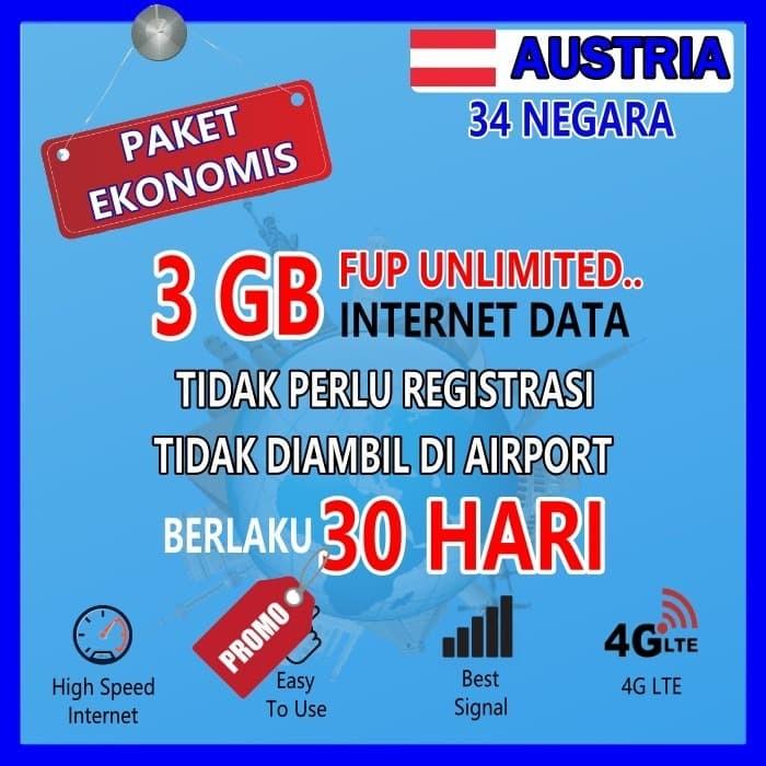 Foto Produk SIM CARD AUSTRIA SIMCARD EROPA KARTU PERDANA INTERNATIONAL EUROPE dari Sim Card Store