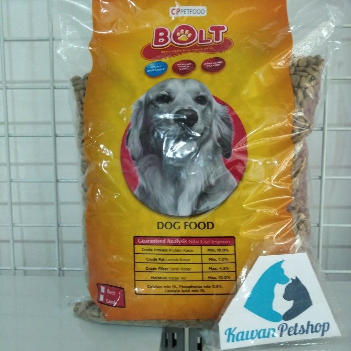 Jual Bolt Dog Beef 1kg Repack Makanan Anjing Murah Kota Depok Kawan Petshop Tokopedia