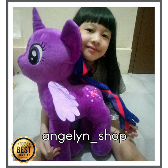 Jual Unik Boneka Kuda Poni My Little Pony Xxl Ungu Pink Biru Murah Jakarta Timur Refangga Tokopedia