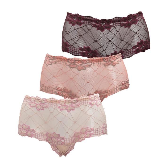 Foto Produk Celana Dalam Wanita You've Meisie - Multicolor [3 pcs] - Putih dari You've Official Store