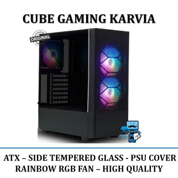 Jual Casing Pc Cube Gaming Karvia Atx Side Tempered Glass Jakarta Pusat Das Livia Computer Tokopedia