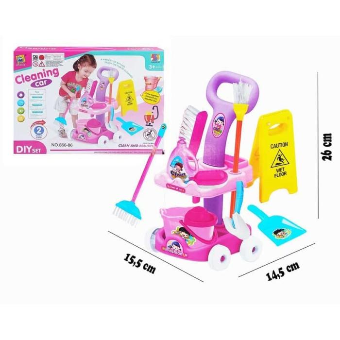 Foto Produk MINI CLEANING CAR - 666-86 MAINAN ANAK PEREMPUAN SAPU PEL EMBER dari D'Best Toys