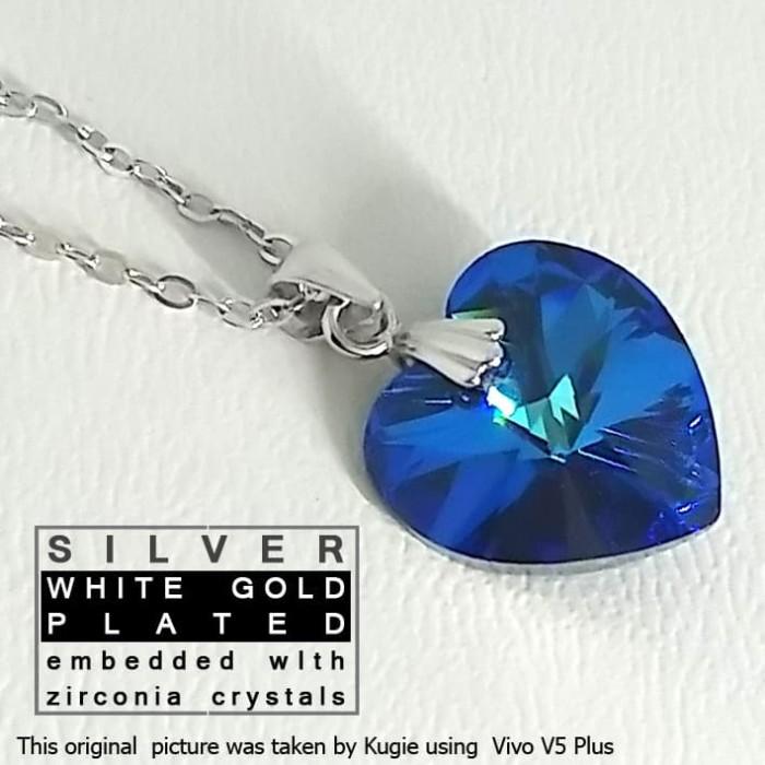 Jual Kalung Perak Silver With Zircons | Perhiasan Lapis ...