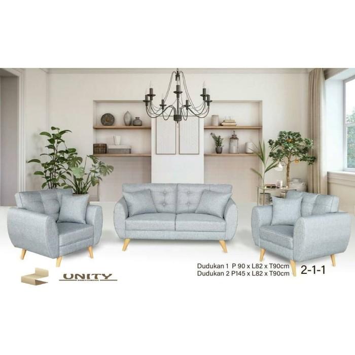 Sofa Bed Minimalis Di Bandung  jual sofa minimalis 2 1 1 sm01 kota tangerang unity furnishing tokopedia