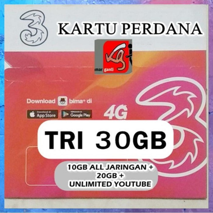 Jual Sale Perdana Internet Three 10gb Kuota Data Tri 10 Gb 24 Jam Aon 10gb Jakarta Barat Yulia Mimi Tokopedia