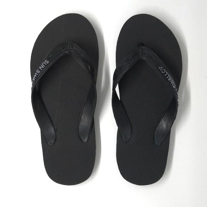 Foto Produk SATUAN Sandal Jepit / Sendal Jepit Sun Swallow Hitam Full Black 11-12 - 11 dari 89stories