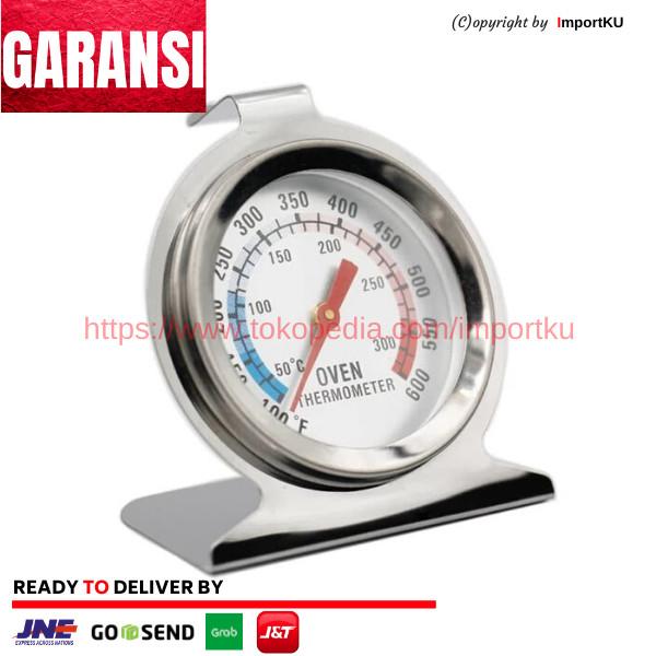 Foto Produk Termometer Oven Stainless Analog 300C dari Importku