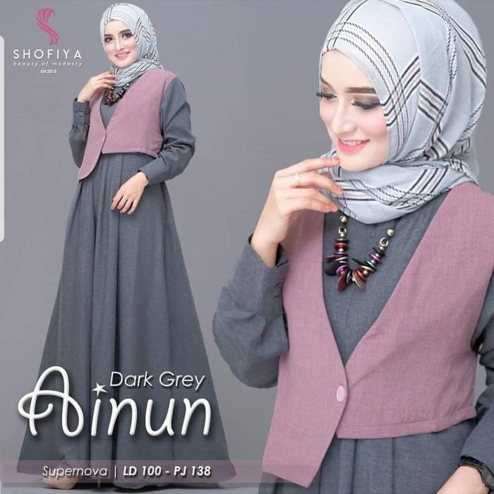 Foto Produk Baju Gamis Syari Wanita Terbaru / Ainun Maxi / Gamis Busana Muslim dari vanilla fashion store