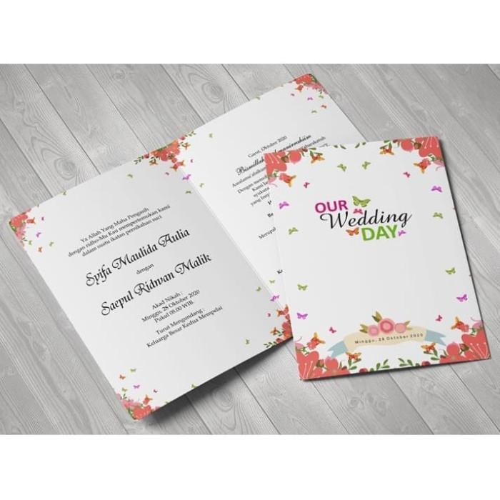 Jual Kartu Undangan Pernikahan Desain Elegan Unik Lipat 2 Nj 148 Jakarta Barat Alf3 Tokopedia