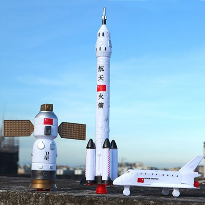 Foto Produk Mainan Set Stasiun Ruang Angkasa dengan Roket Shuttle Astronot Bahan P dari Random Shop L