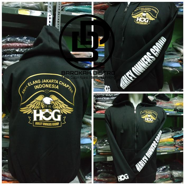 Foto Produk Sweater Hoodie Zipper HOG ANAK ELANG JAKARTA - HARLEY OWNER GROUP dari BAROKAH DISTRO