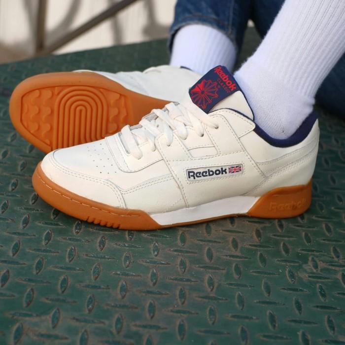 Jual Sepatu Wanita Reebok Work Out Crystal White Gum Original