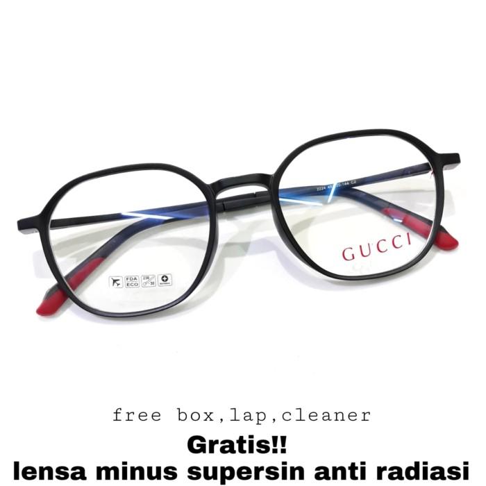 Foto Produk kacamata minus frame gucci lensa anti radiasi komputer dari OPTIK AGUS FASET