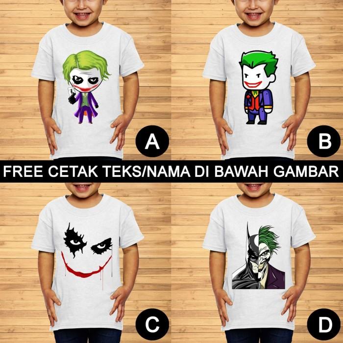 Foto Produk Batman Joker Baju Kaos Anak dan Balita Super Hero Custom Teks/Nama dari Inspirasi T-Shirt Anak