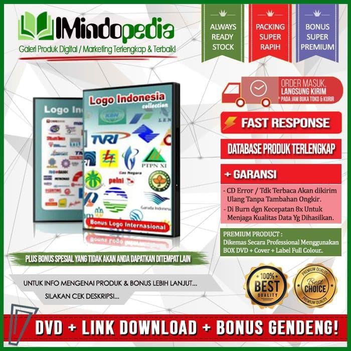 Jual Dvd Koleksi Ribuan Desain Logo Vector Indonesia Bonus Logo Luar Jakarta Selatan Imindopedia Tokopedia