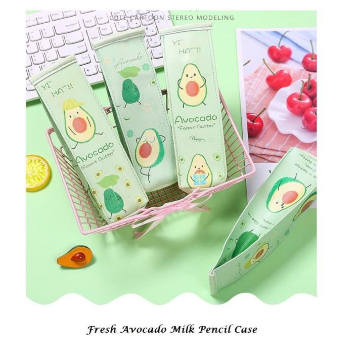 Foto Produk TP0069 Tempat Pensil Fresh Milk Avocado / Tempat Kosmetik - avo milk satu dari EnnWen Online Store