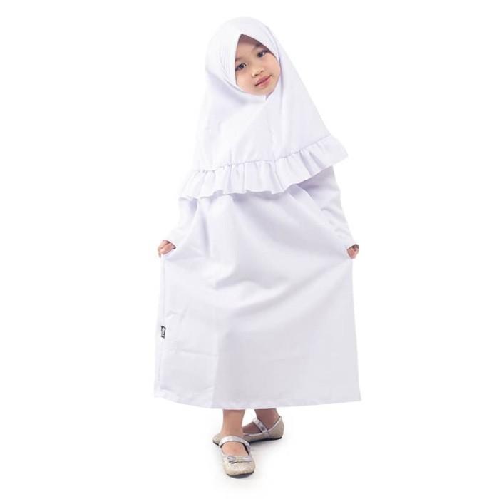 Foto Produk BAJUYULI - Baju Muslim Gamis Anak Perempuan Polos Rempel - Putih FBT01 - XS dari Bajuyuli