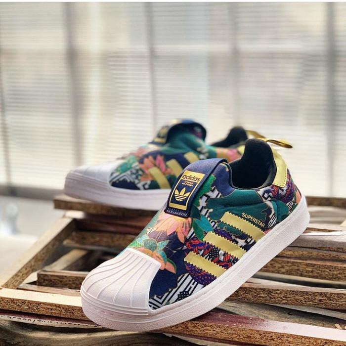 adidas superstar green gold