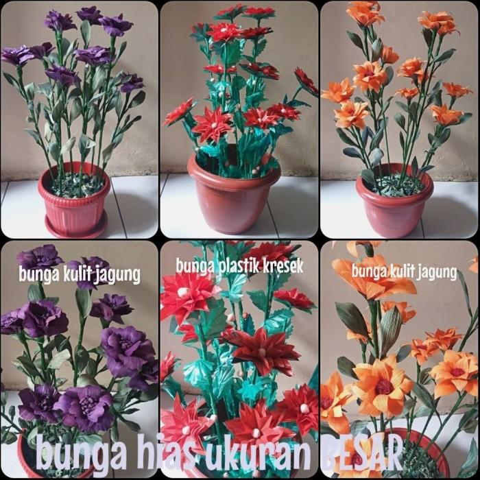 Jual Bunga Kulit Jagung Dan Plastik Kresek Ukuran Besar Bunga Hias Handmade Kota Depok Callyzoet Id Tokopedia