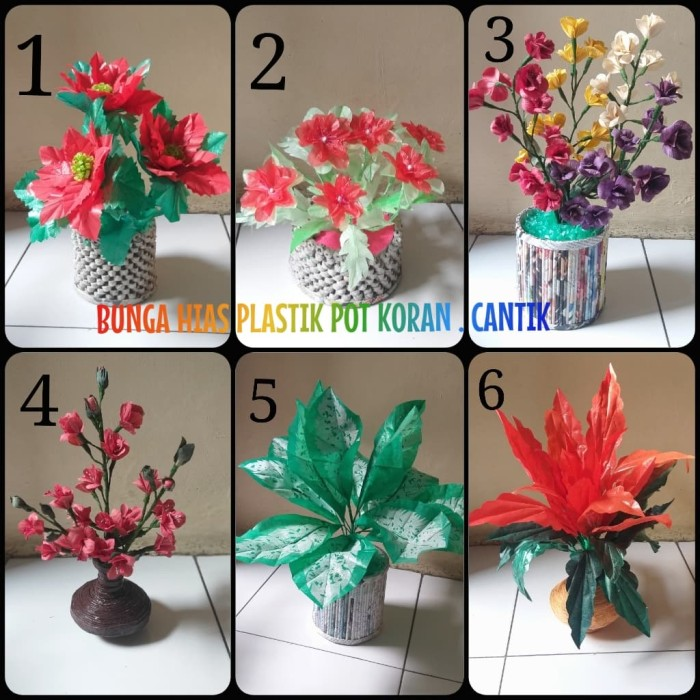 Jual Bunga Kulit Jagung Dan Plastik Kresek Handmade Pot Koram Bunga Hias Kota Depok Callyzoet Id Tokopedia