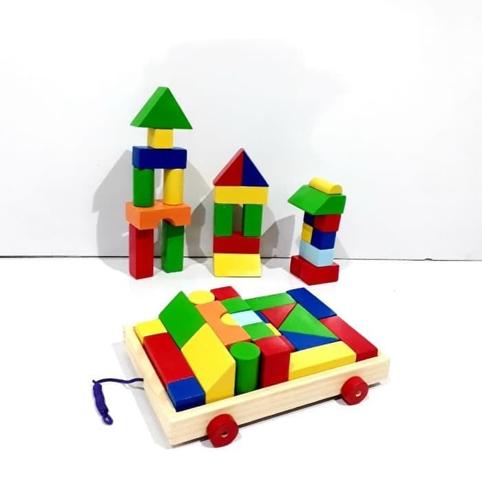 Foto Produk Mainan edukasi anak Puzzle kayu Mobil Block/Wooden block car dari AUTO KID II