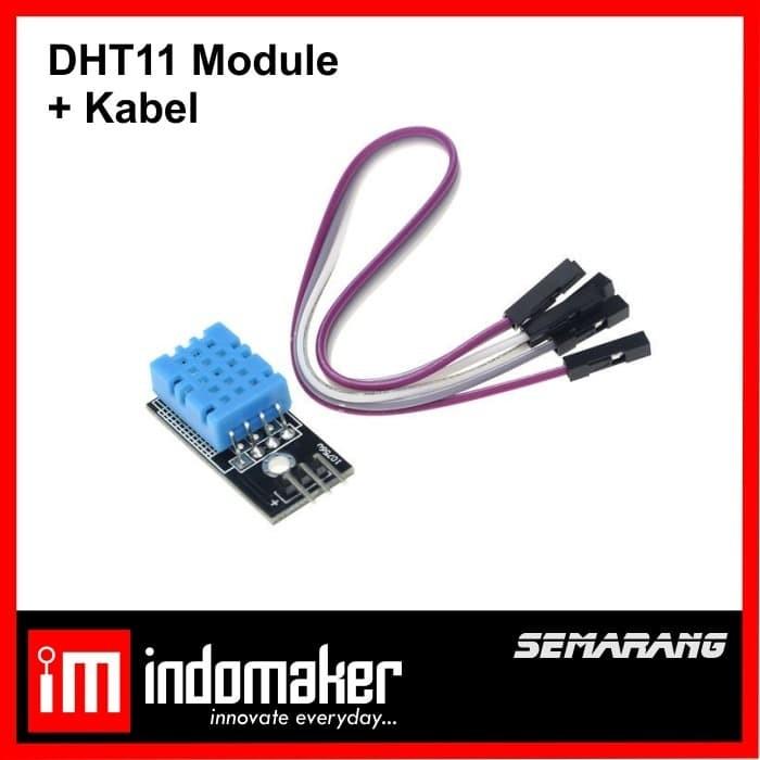 Foto Produk [D8] - DHT11 Module - Sensor Suhu dan Kelembaban Udara plus Kabel dari indomaker
