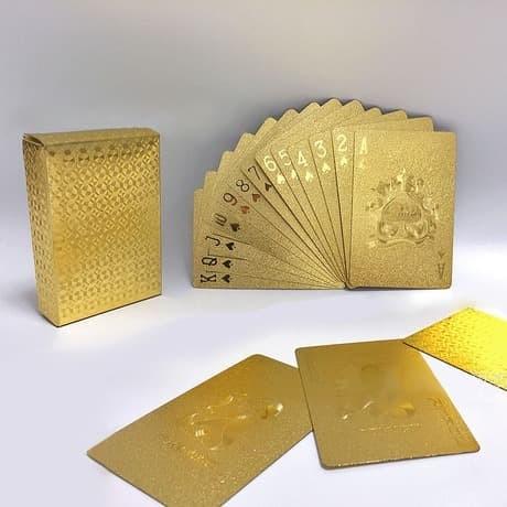 Jual Kartu Poker Unik Keren Warna Emas Gold Kota Batam Wildcard Tokopedia