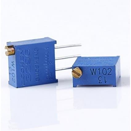 Bourns PCB Mount Top Adjust Trimmer 3296Y Multiturn Resistance: 10 kOhm
