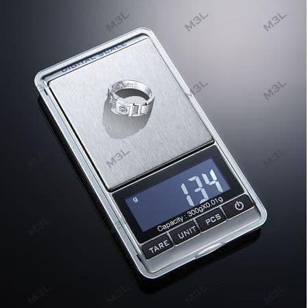 Foto Produk Timbangan Emas 300GR / 0.01GR Perhiasan Digital Pocket Gold Scales dari M3L