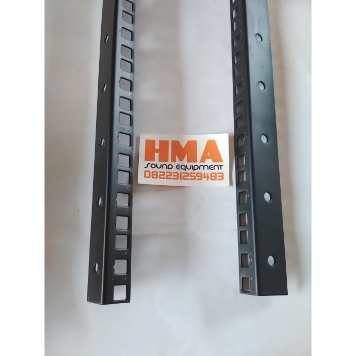 Foto Produk Besi Siku Lubang Rak Racklist Rel Hardcase 12U dari HMA Sound Equipment