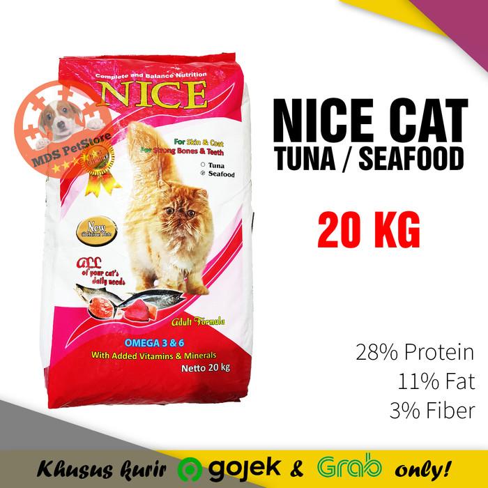Jual Nice Cat Food 20 Kg Makanan Kucing Murah Spt Bolt 20kg