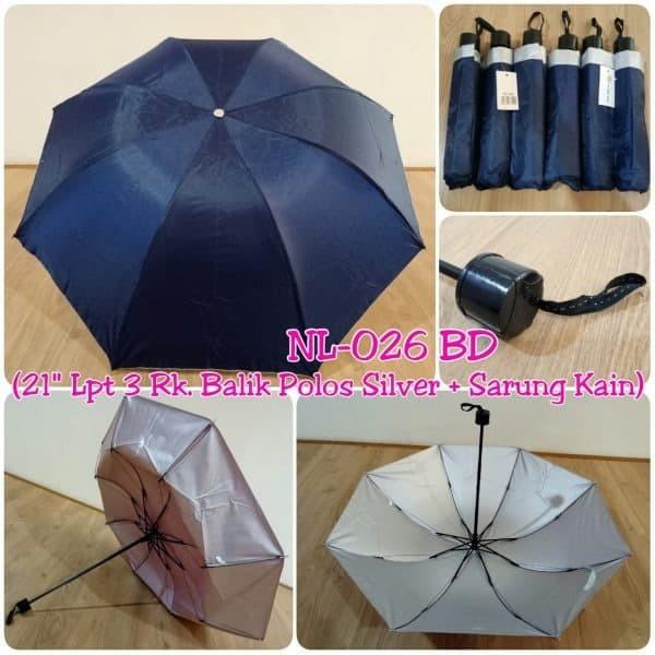 Foto Produk payung lipat souvenir promosi biru dongker dari Outlet souvenir JKT