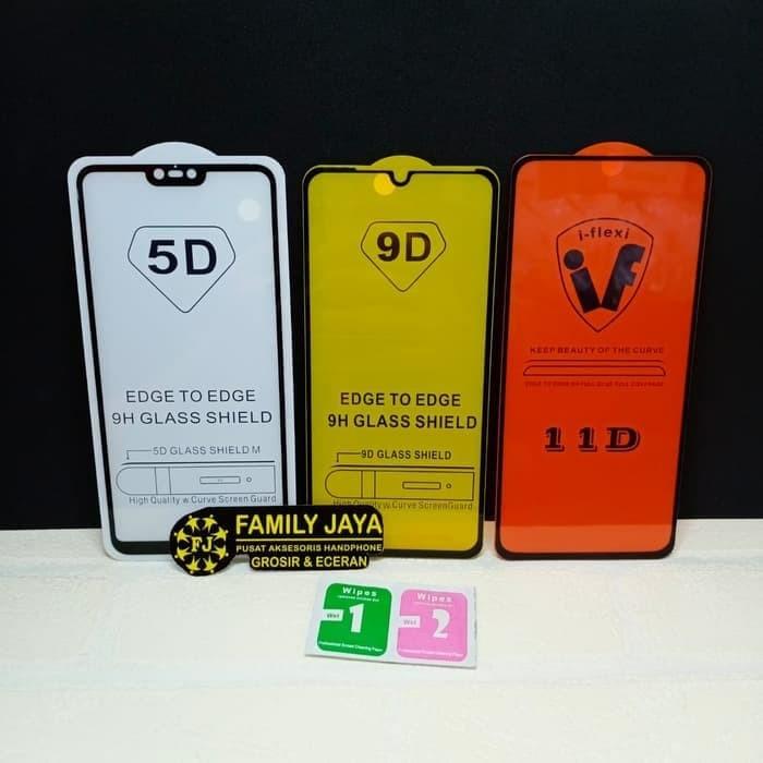 Foto Produk Tempered Glass 9D 5D Full Lem Xiaomi Redmi 5 Plus - Hitam dari Family Jaya Acc