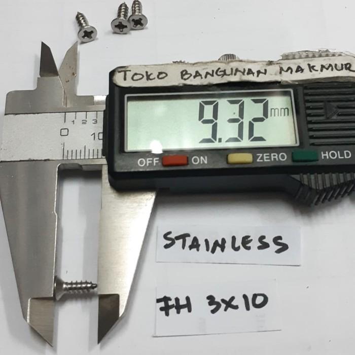 Foto Produk Sekrup 10mm Stainles FH 3x10 mm 50pcs dari toko Bangunan Makmur